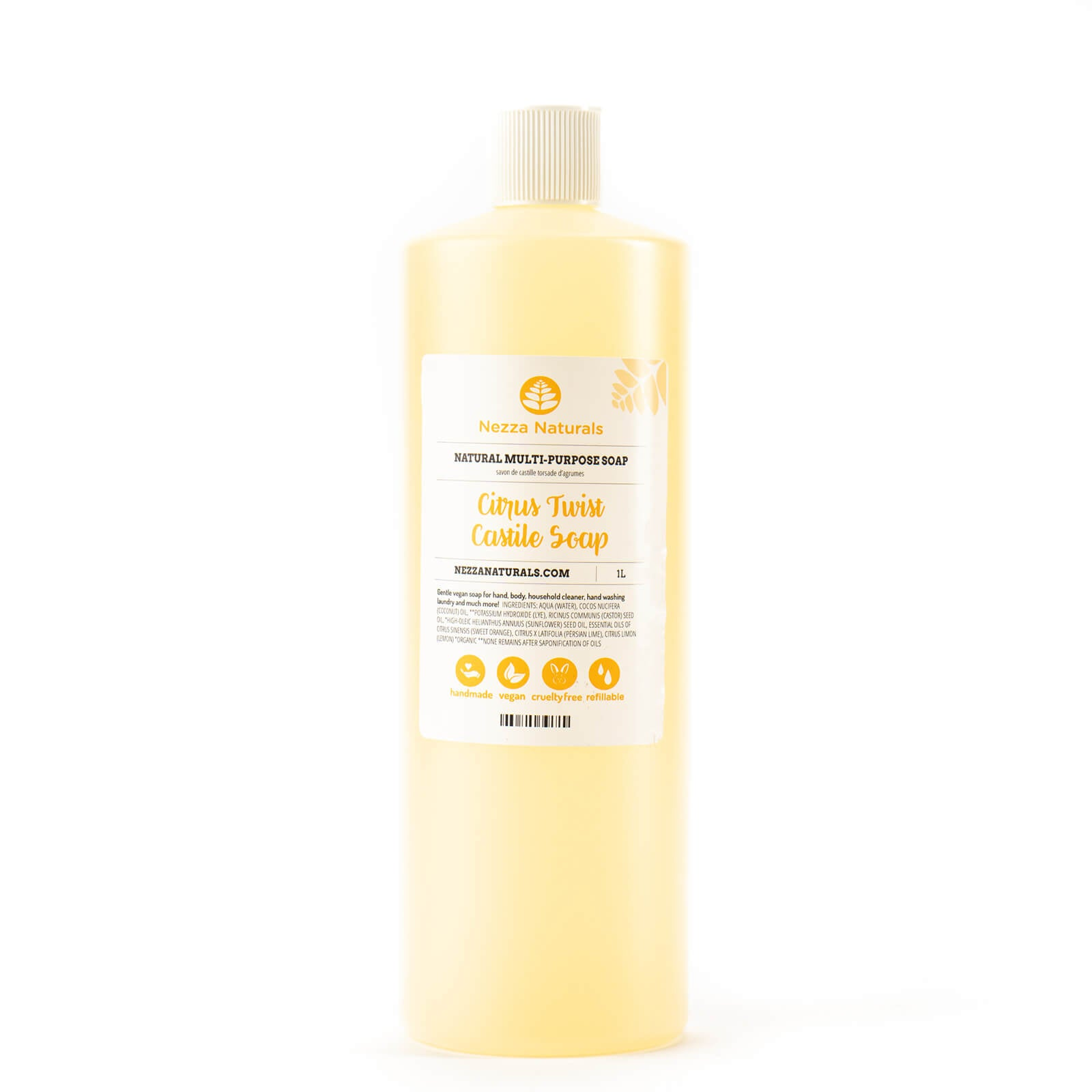 Castile Liquid Soap in Citrus Twist