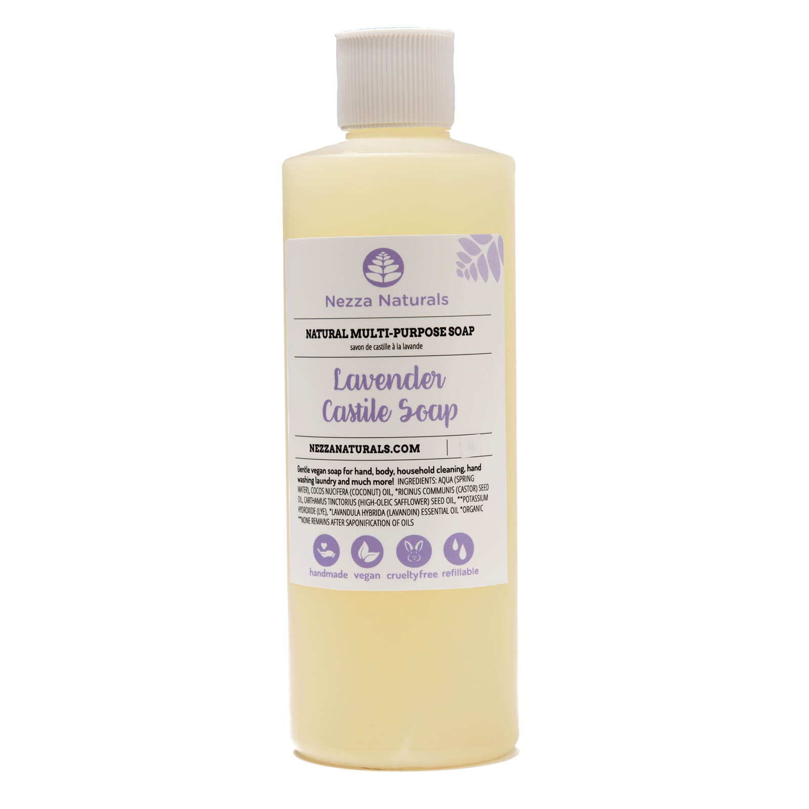 Castile Liquid Soap in Lavender