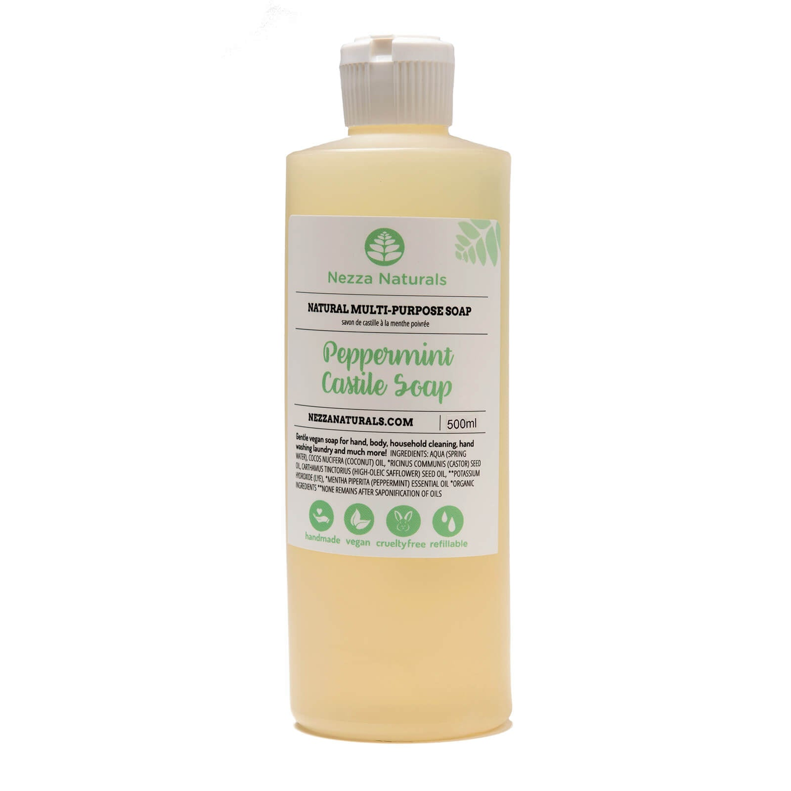 Castile Liquid Soap in Peppermint