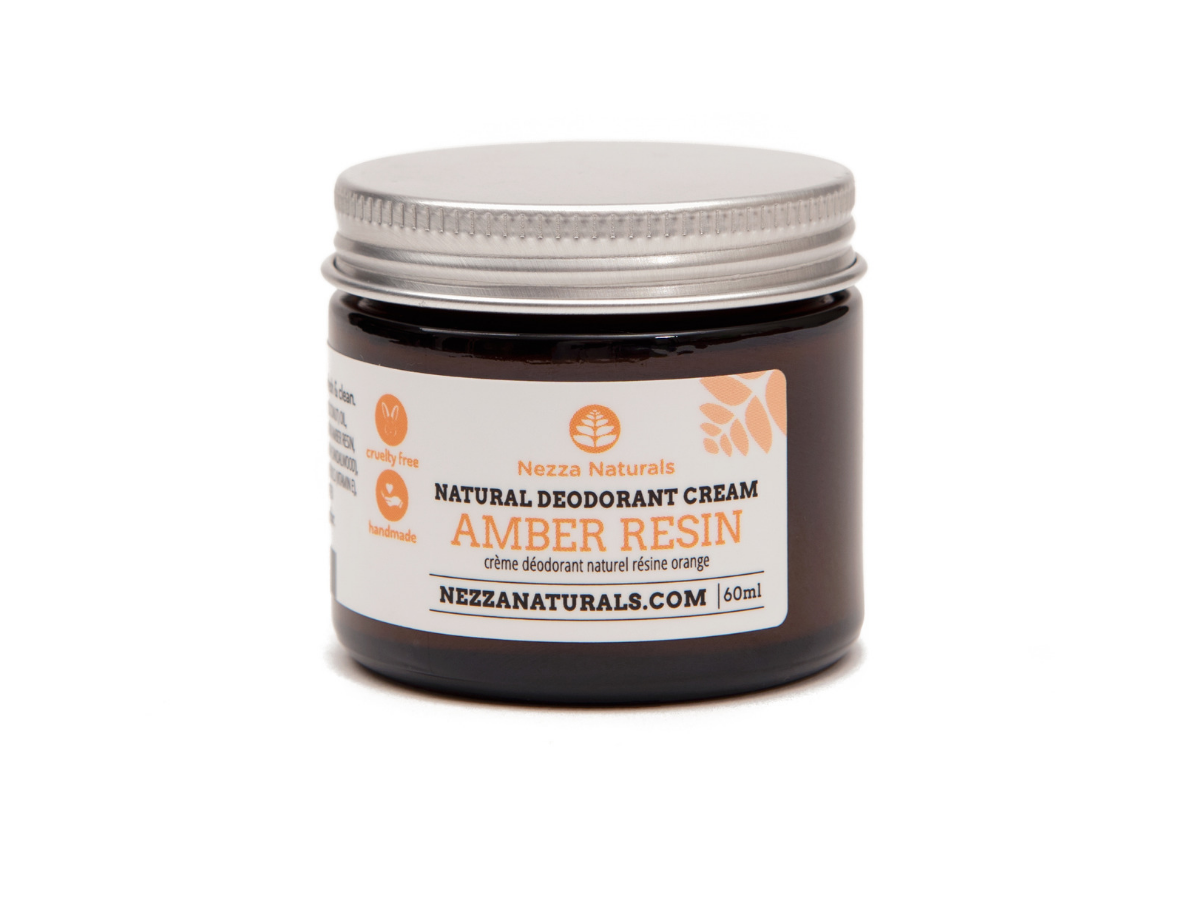 amber resin natural deodorant cream | organic | natural | Nezza Naturals