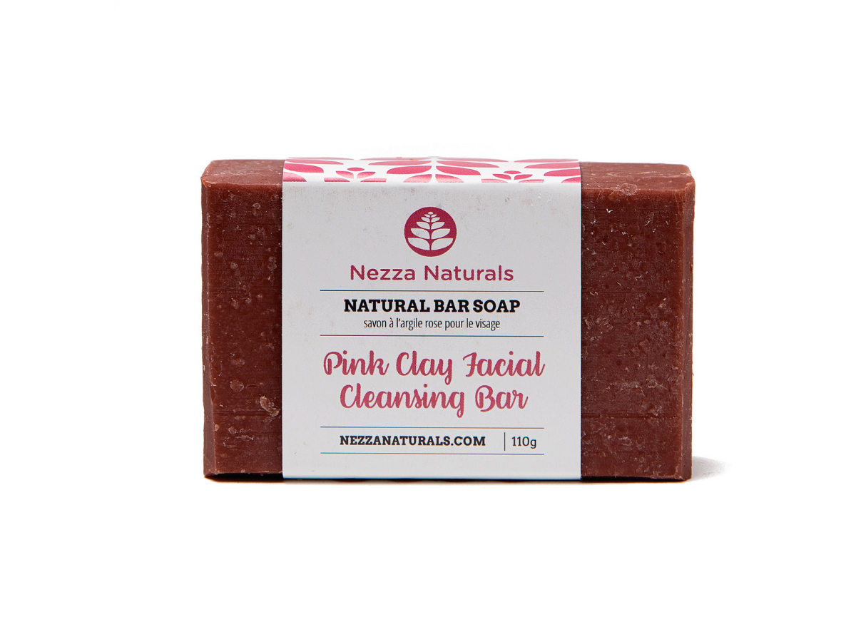 pink clay facial cleansing bar | organic | natural | Nezza Naturals