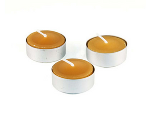 beeswax tea light candle | organic | natural | Nezza Naturals