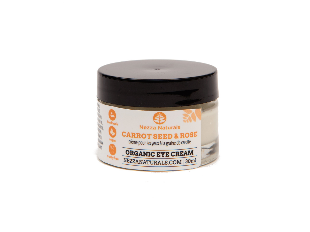 carrot seed & rose eye cream | organic | natural | Nezza Naturals