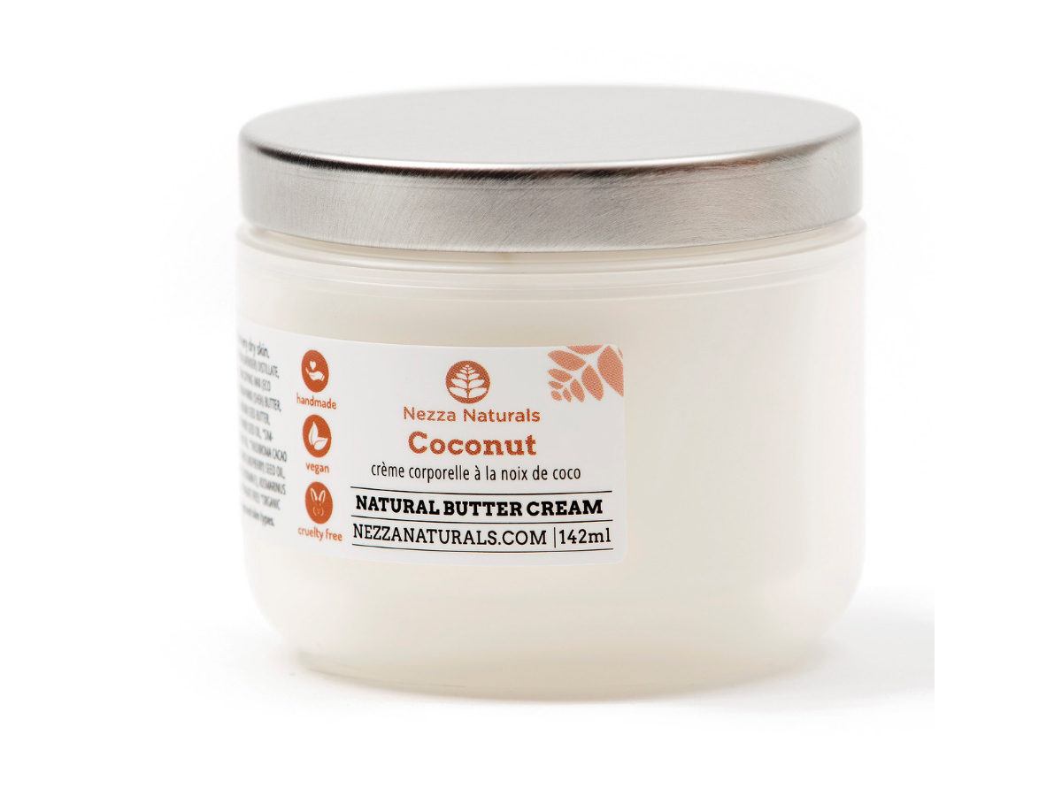 coconut body butter cream | organic | natural | Nezza Naturals