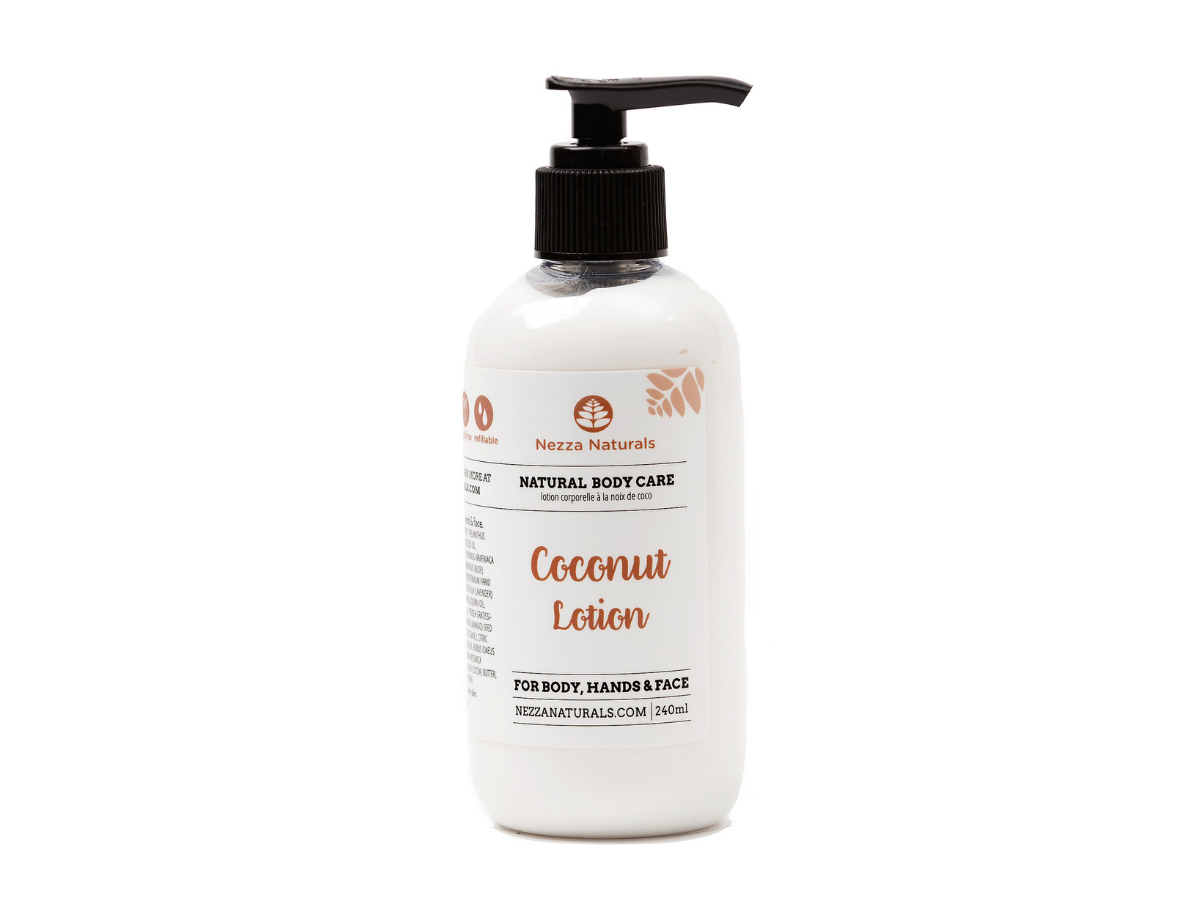 coconut body lotion | organic | natural | Nezza Naturals
