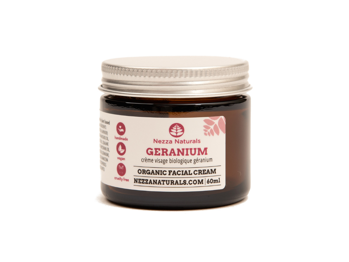 geranium facial cream | organic | natural | Nezza Naturals