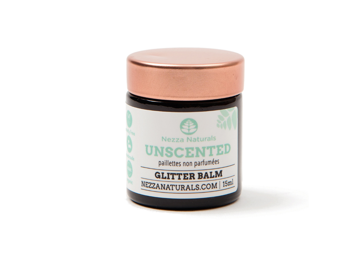 unscented glitter balm | organic | natural | Nezza Naturals