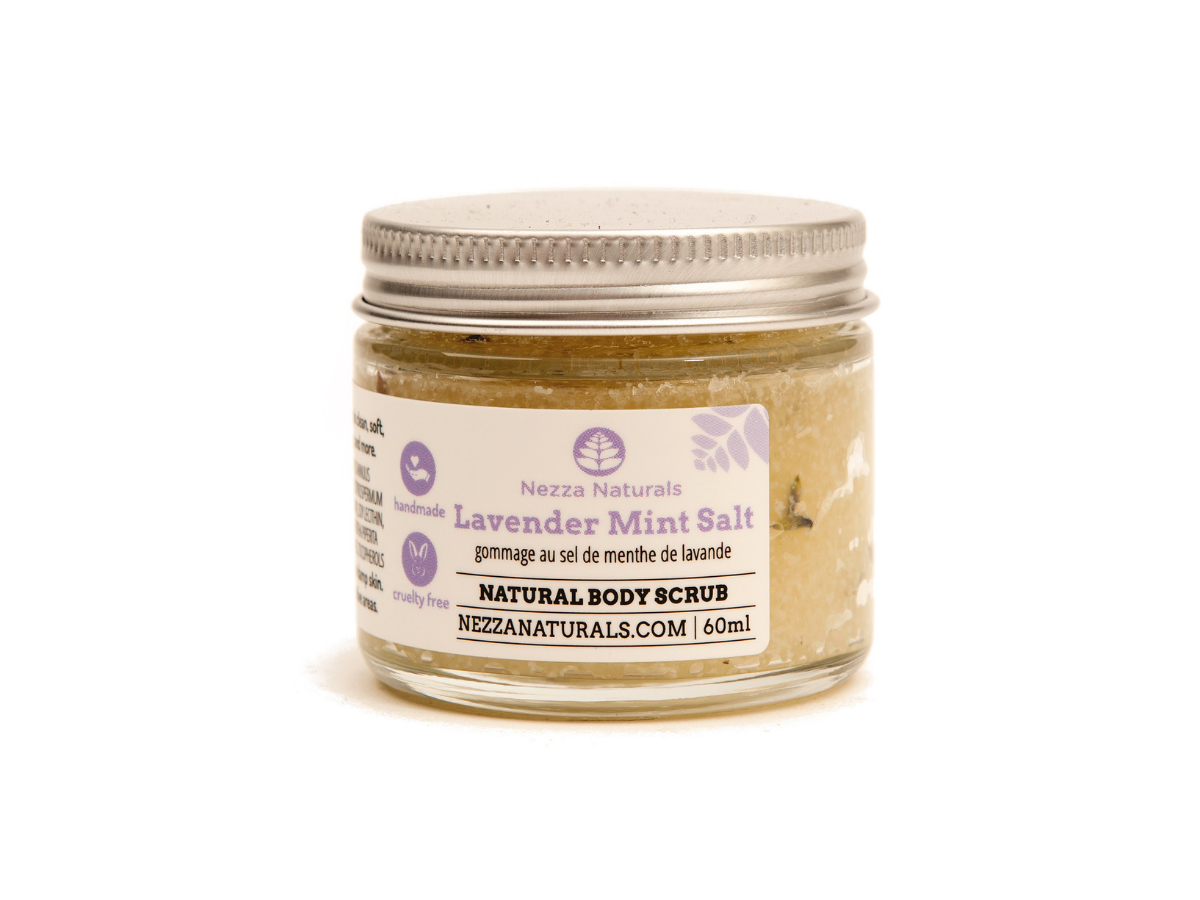 lavender mint salt scrub | organic | natural | Nezza Naturals