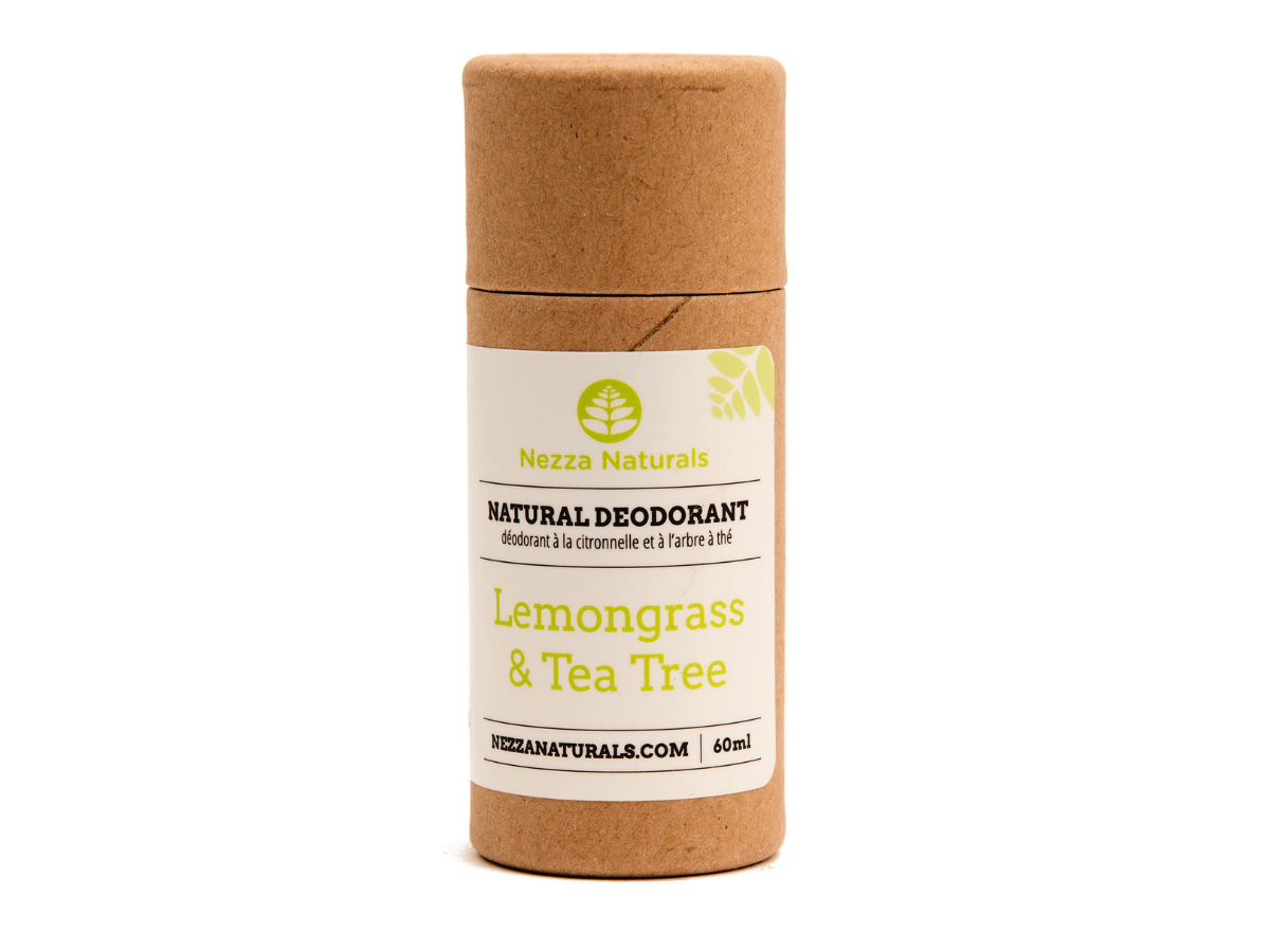 lemongrass and tea tree natural deodorant | organic | natural | Nezza Naturals