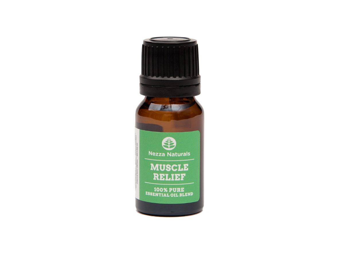 muscle relief essential oil blend | organic | natural | Nezza Naturals