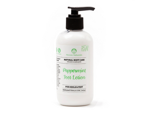 peppermint foot lotion | organic | natural | Nezza Naturals