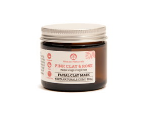 pink clay & rose mask | organic | natural | Nezza Naturals
