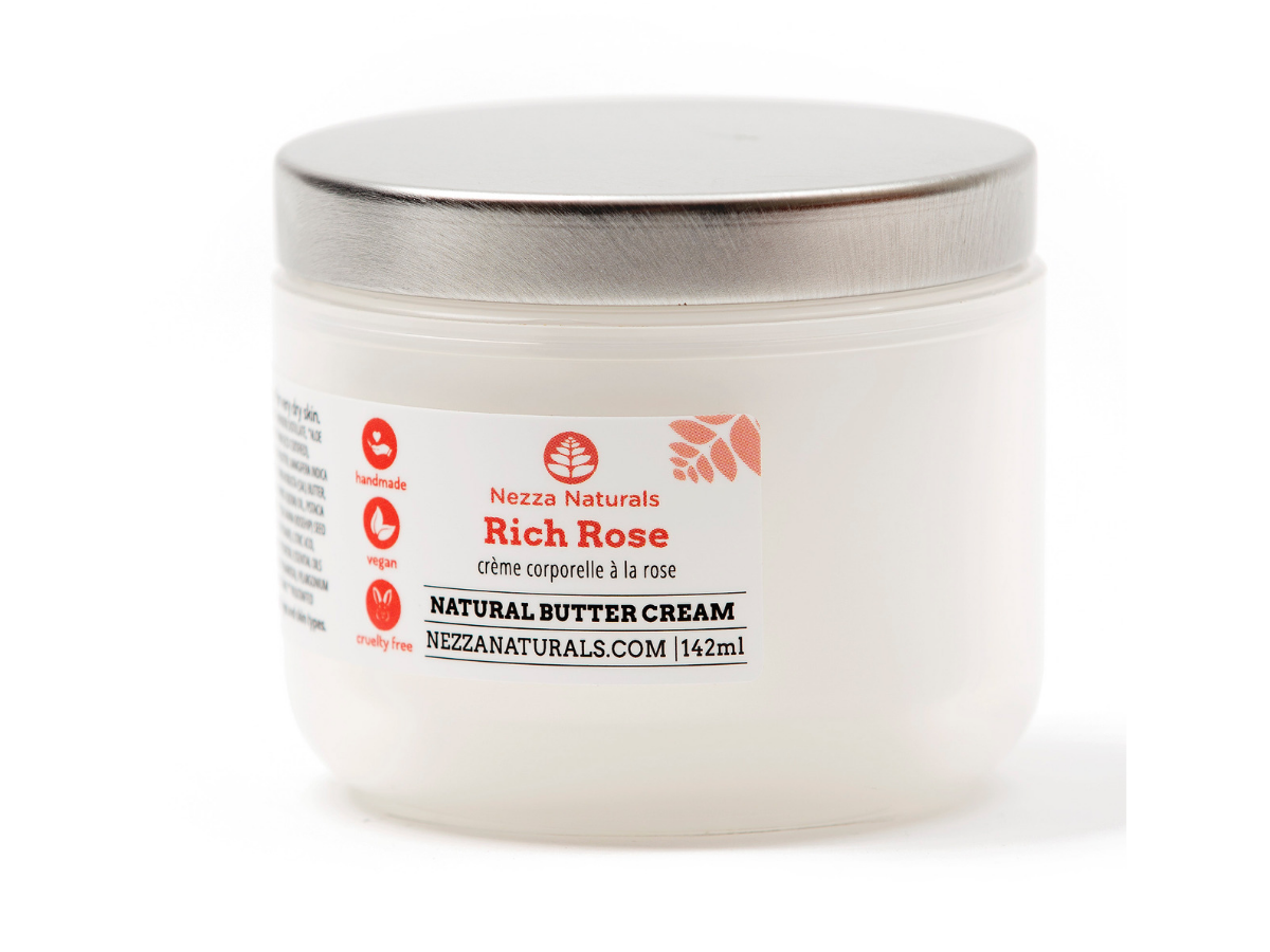 rich rose body butter cream | organic | natural | Nezza Naturals