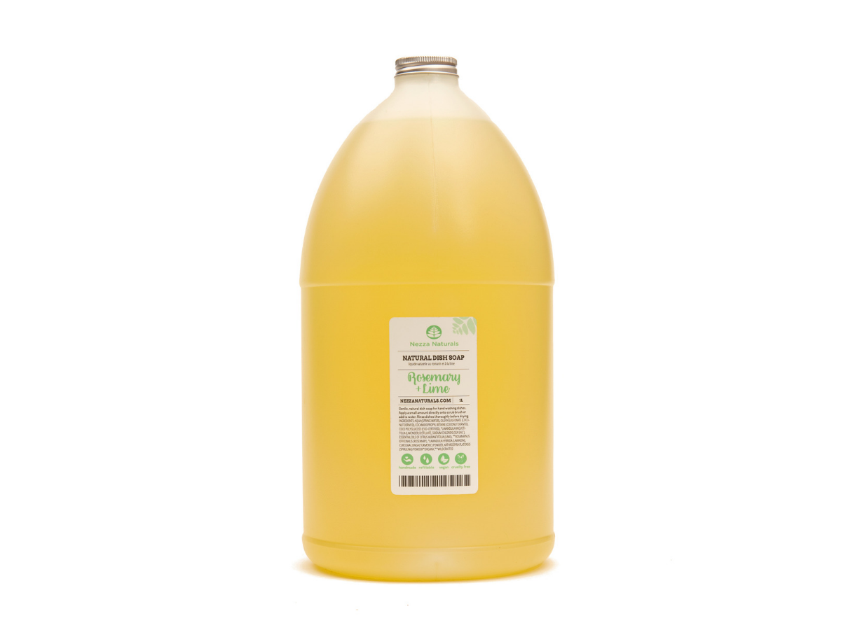 rosemary lime natural dish soap | organic | natural | Nezza Naturals