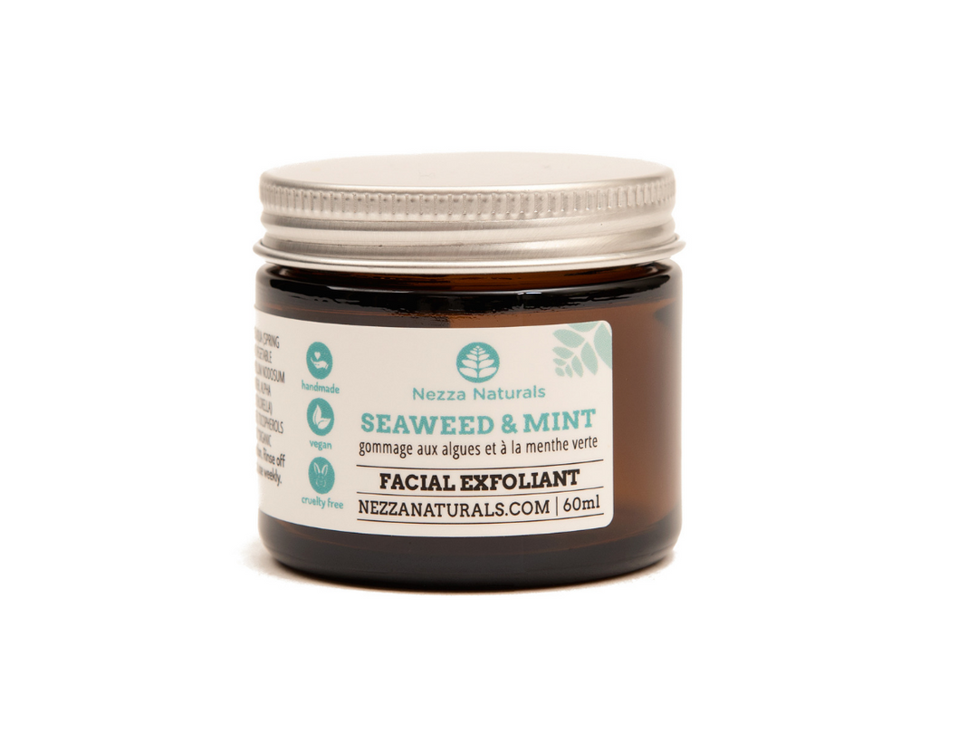 seaweed & mint facial exfoliant | organic | natural | Nezza Naturals