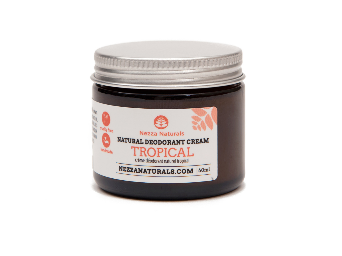 tropical natural deodorant cream | organic | natural | Nezza Naturals