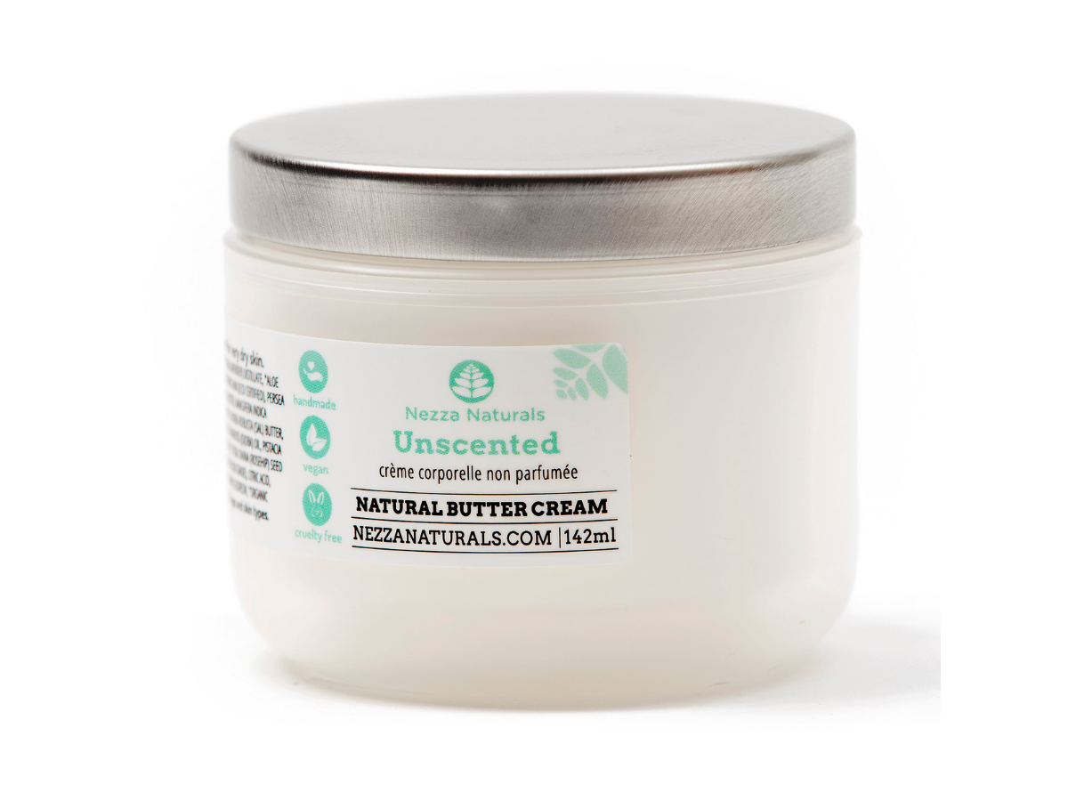 unscented body butter cream | organic | natural | Nezza Naturals