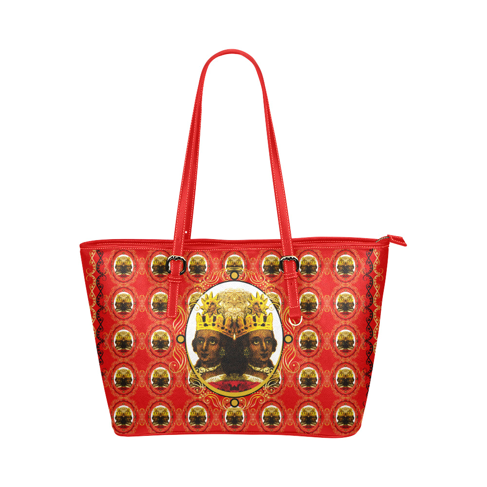 A4 Empress Large Leather Tote Bag Red Leather