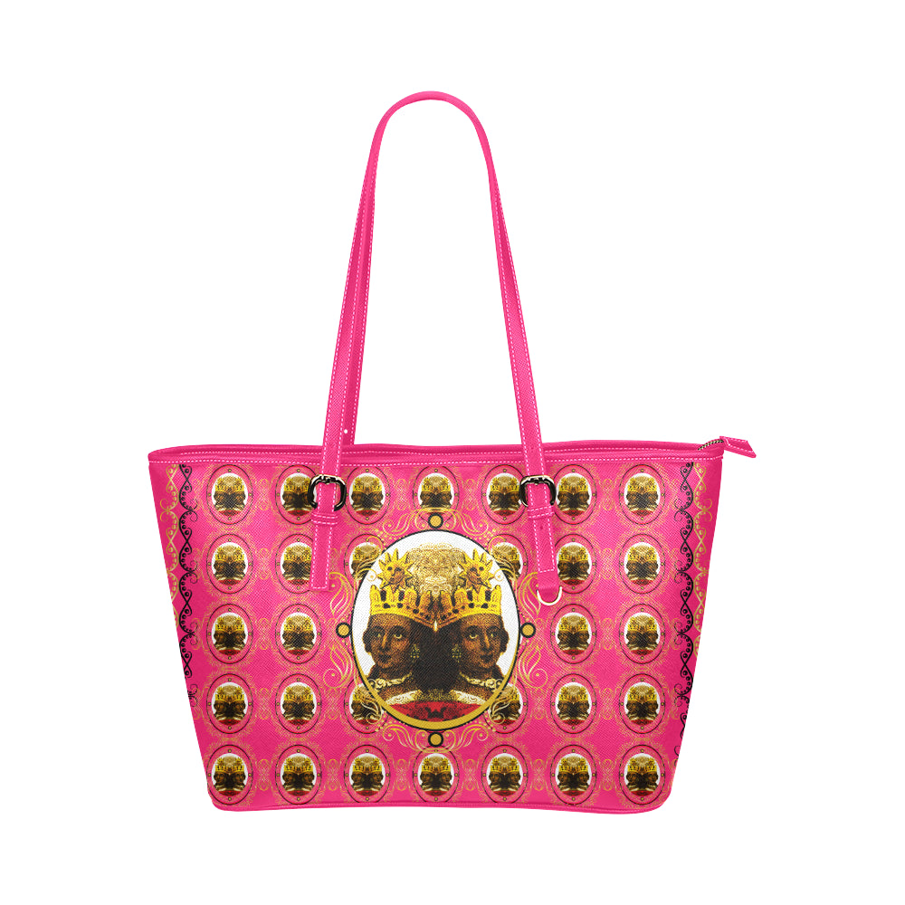 A4 Empress Large Leather Tote Bag Pink