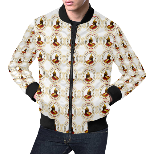 Royalty-4 Minko WHI Bomber Jacket for Men