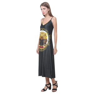 A4 ROYALTY Ohoyo V-Neck Long Dress