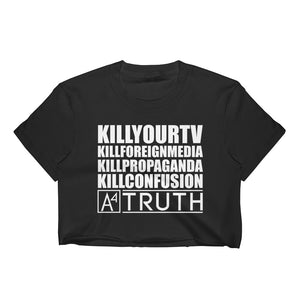 A4 #KILLSERIES BLK Crop Top