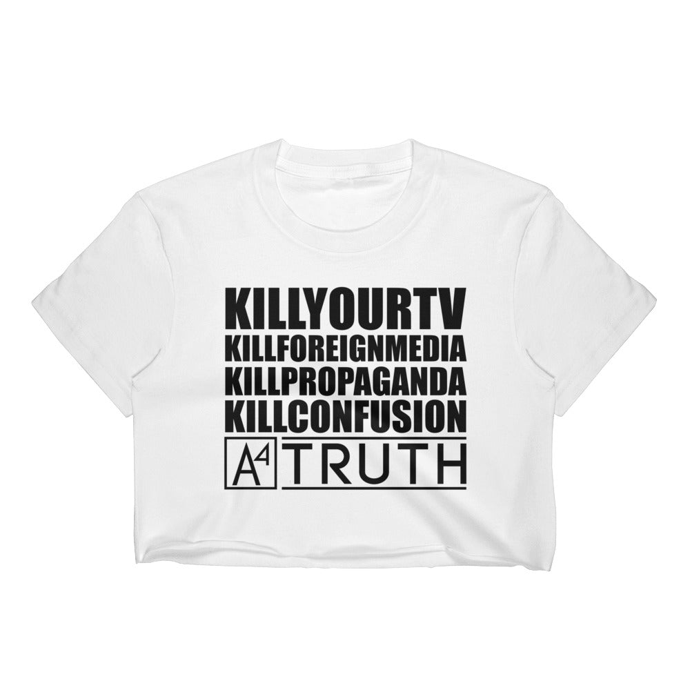A4 #KILLSERIES WHI Crop Top