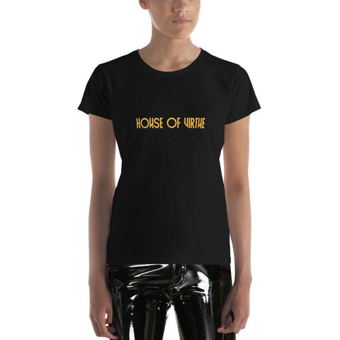 Black Logo Women's T-Shirt - HOV Series I - House of Virtue