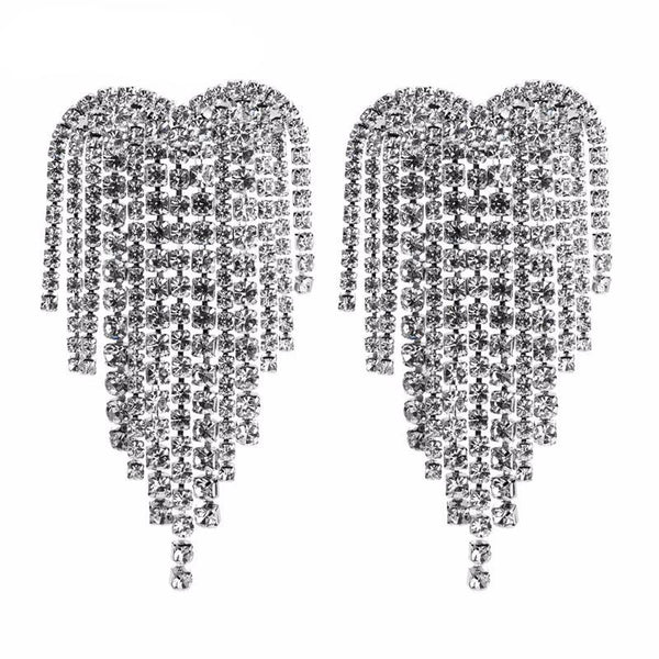 Glitz Rhinestone Earrings - House of Virtue