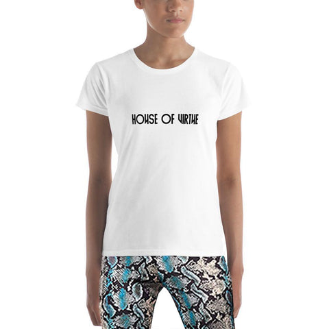 White Logo Women's T-Shirt - HOV Series I - House of Virtue