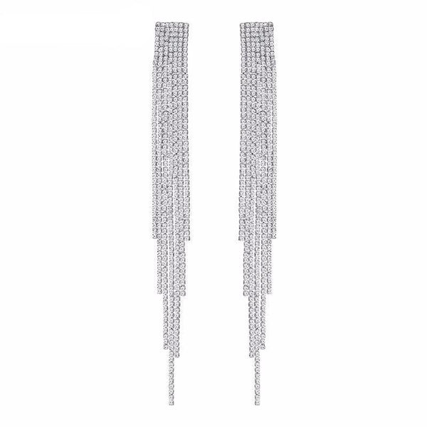 Glam Rhinestone Earrings - House of Virtue