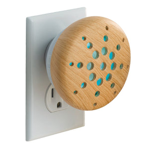 """Bamboo"" Electric Pebble Plug In Oil Diffuser with FREE Oil"