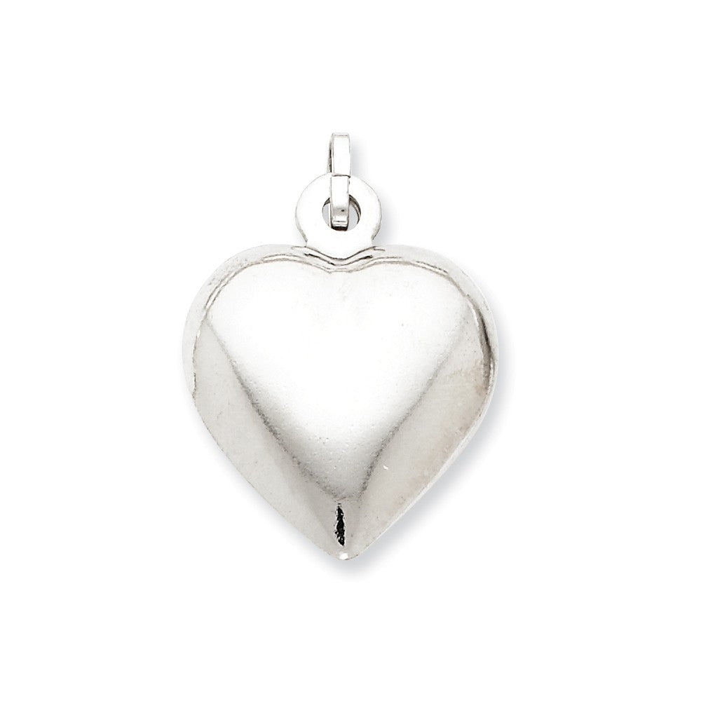 Sterling silver puffed heart pendant seiferts jewelers sterling silver puffed heart pendant aloadofball Images
