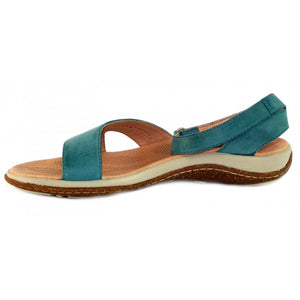 leather flat sandals with ankle strap