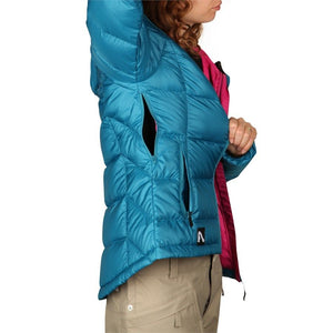 FlyLow Women's puffer Betty Down Snowboard & Ski Hooded Winter Jacket Coat