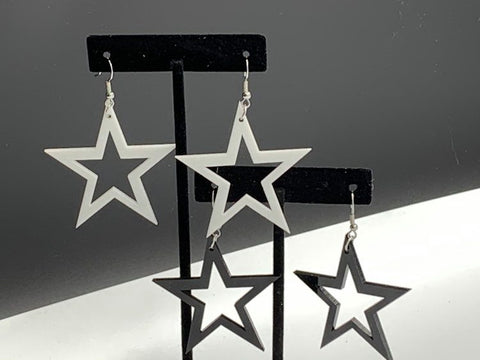 Étoile - Boucle d'oreille acrylique (Star Acrylic earrings)