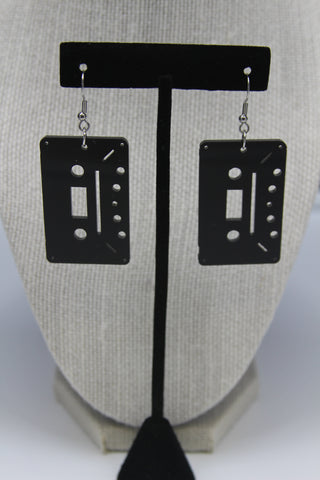 Cassette 4 track - Boucle d'oreille acrylique (Acrylic earrings)