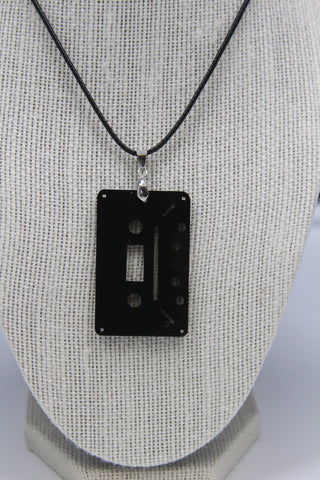 Cassette 4 Track - Collier acrylique (Acrylic necklace)