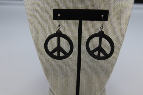 Peace - Boucle d'oreille acrylique (Acrylic earrings)