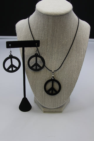 Peace - Kit Boucle d'oreille et Collier acrylique (Acrylic Kit earring and necklace)