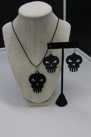 Punisher - Kit Boucle d'oreille et Collier acrylique (Acrylic Kit earring and necklace)