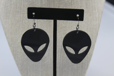 Face Alien - Boucle d'oreille acrylique (Acrylic earrings)