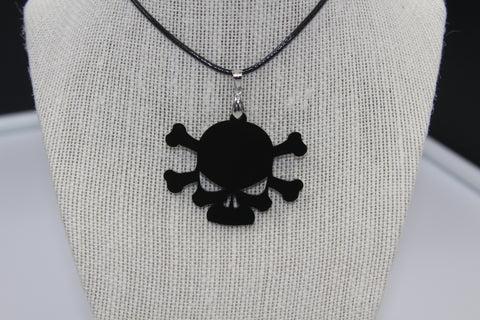 Tête de mort os - Collier acrylique (Acrylic necklace)