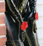 Rose latex gauntlet