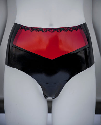 Ann Lace Vintage Latex Panties