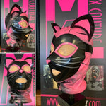 Kinky Kitty Marbled Latex Hood