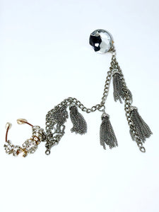 Nose ring with tassel chain and earring!