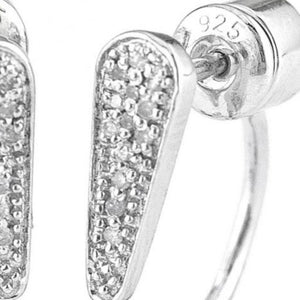 Peek-A-Boo Single Pave Diamond Earrings