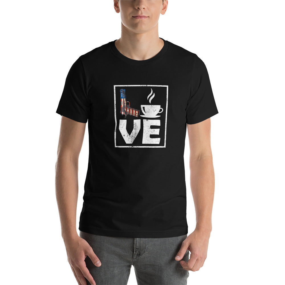 LOVE 1911 Coffee America! Short-Sleeve Unisex T-Shirt