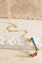 Multi Colored Initial Necklace